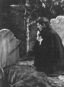 at her grave