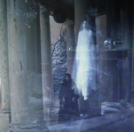 josettes ghost and barnabas on portico